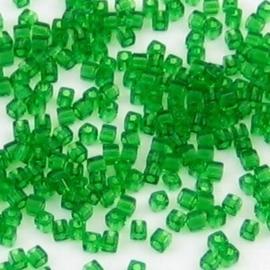 10 gram Kubus 1,8 mm Miyuki Kelly Green Transparant