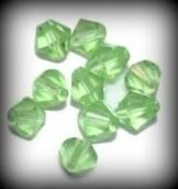 10 Stuks Glaskraal facet konisch lime groen 8 mm