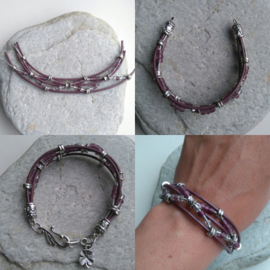 Armbandenset: crushed violets ♥