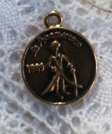 6 x Tibetaans zilveren muntje 17,5 x 1mm gat: 2mm oud goud kleur le petit prince
