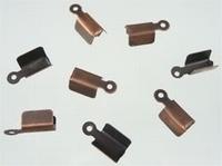 10 Stuks Veterklemmetje antiek koper (voor veter) 9 mm