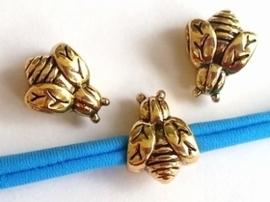 Per stuk European Jewelry kraal bijtje goud metaal 15 mm