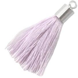 2x Kwastje met eindkap Lila purple