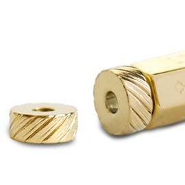 1 x C.U.S® sieraden message beads eindkap Goud (nikkelvrij)