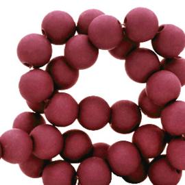 30 x 8 mm acryl kralen Carmine red