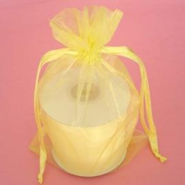 1 x luxe organza zakje, kies uit 6 verschillende maten - Baby maize