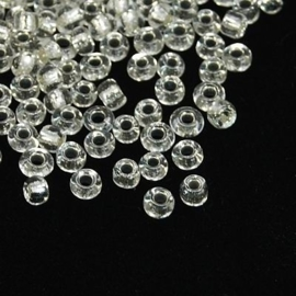 Zakje mooie rocailles 20 gram Seed Beads 8/0 transparant 3mm