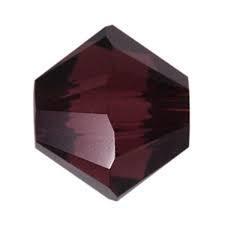 10 x Preciosa Kristal Bicone kraal 8mm Bordeaux