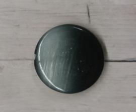 5 Stuks platte ronde glaskralen zwart met lichtgrijs gekleurd 20mm gat 2mm