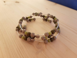 Wikkelarmband simple green ♥