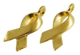 10 stuks ribbon bedeltjes Tibetaans zilver goud kleur 18mm x 6mm gat 2mm