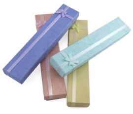 5 luxe assortiment cadeaudoosjes voor bijvoorbeeld een balpen of een horloge etc. 20cm x 4cm x 2cm