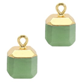 1 x Natuursteen hangers square Ocean green-gold Marble Stone