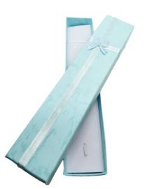 5 luxe cadeaudoosjes voor bijvoorbeeld een balpen of een horloge etc. 20cm x 4cm x 2cm licht blauw