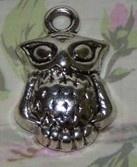 10 x Tibetaans zilveren bedel van een uil 20 x 13mm oogje: 2mm