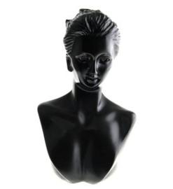 Buste hoofd afm. 16 cm hoog display halsje voor kettingen (kies voor pakketpost)