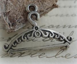 6 x Tibetaans zilveren kleding hanger, kapstok  24x18mm