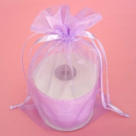 1 x luxe organza zakje, kies uit 6 verschillende maten - Lavender
