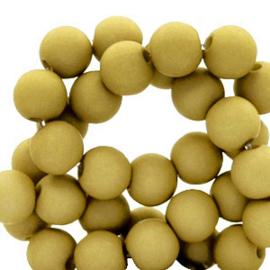 30 x  8 mm acryl kralen Mustard green
