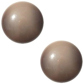 2 x Cabochon Polaris Jaquard 12 mm Steeple grey