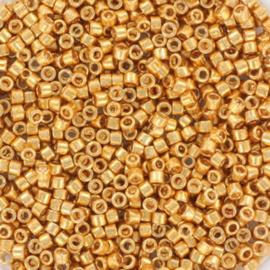 c.a. 5 gram Miyuki delica's 11/0 - galvanized yellow gold