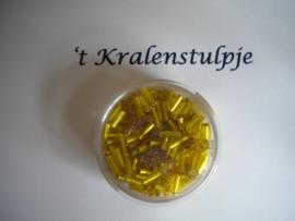 Pracht - glasstiften buisjes met zilverinslag 6mm 17 gram geel