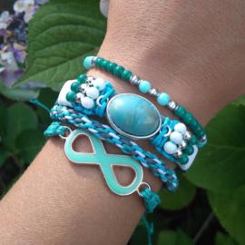 Armbandenset groen blauw ♥