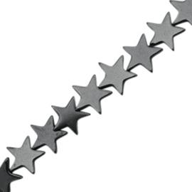 5 x Hematite kralen ster 4mm Anthracite grey