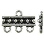 10 stuks metalen tussenzetsels verdeler met 3/1 oogje 18,5 x 12,5 x 2,5mm gat: 2mm
