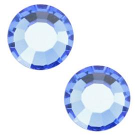 10 x  Swarovski Sapphire plat strass steentje 5mm