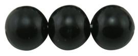 40 x prachtige glasparel kleur: Zwart 6mm