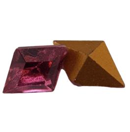 4 x Roze swarovski puntsteen 9 mm x 6,5 mm