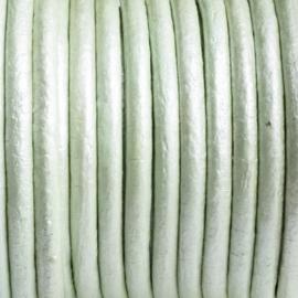 50 cm  DQ Leer rond 2 mm mint groen