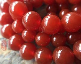 10 x kraal van rode Carnelian 8mm