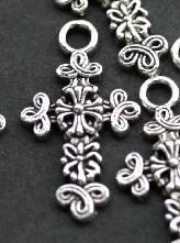 5x Prachtige Tibetaans zilveren hanger 31.5x17mm