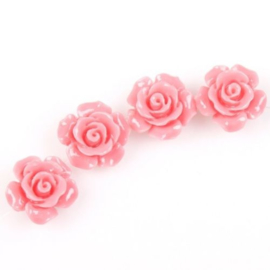 4 x Roosje 12mm  rijggat 1 mm Rose