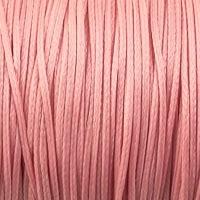 10 meter waxkoord 1,5mm dik kleur: zalm roze