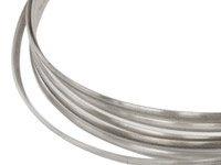 Platte memory Wire voor armbanden 55 mm zilverkleurig 25 wendingen plat 1,2 x 0,5mm