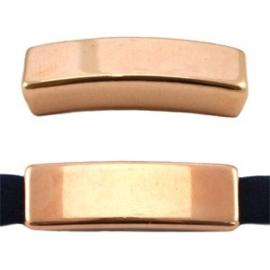 1x DQ metaal schuiver langwerpig gesloten Rosé goud 26x8 mm Ø5.2 mm