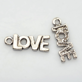 Bedeltje Love 22 x 8 x 2 mm gat: 1,5mm