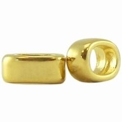2 x metalen Ibiza schuiver Goud 8 mm