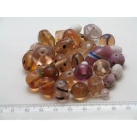 100 gram luxe glaskralenmix in diverse tinten mix 53
