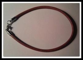 Per stuk Armband European-style bruin leer 21 cm