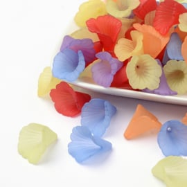 10 x prachtige assortiment acryl bloem kelk mix 19~20x18~19x17mm gat: 1,5mm