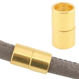 1 x DQ metaal magneetslot Ø6.2mm Goud (nikkelvrij)