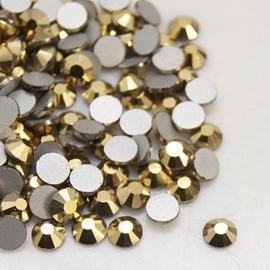 20 stuks (bijvoorbeeld geschikt als tand - nagel) kristallen 1.8mm Gold