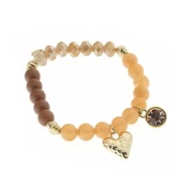 Prachtige Biba armband fantasie Gold