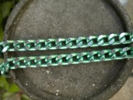 100 cm prachtige Jasseron mint groen-zilver schakel 8 x 12 mm