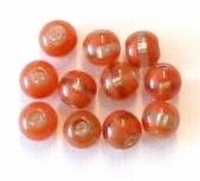 10 Stuks Glaskraal rond oranje 8 mm