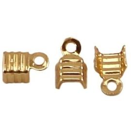 10 x DQ veterklemmen 4 mm Gold plated